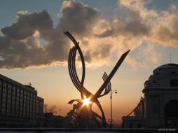 вечерняя, звезда, города, памятники, скульптуры, арт, объекты