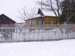 города, здания, дома, зима, забор, деревья, снег, холод, дом, улица
