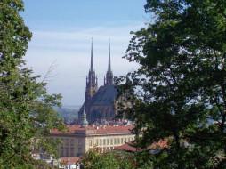 brno, petrov1, города, католические, соборы, костелы, аббатства