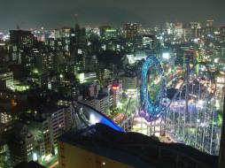 города, огни, ночного