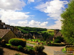 england, snowshill, the, cotswolds, ss, barnabas, church, and, cottages, города, другое