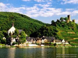 germany, beilstein, moseltal, ruine, metternich, города, пейзажи