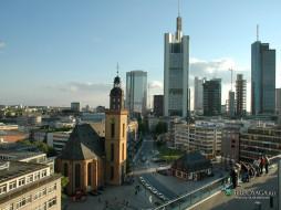 frankfurt, города, улицы, площади, набережные