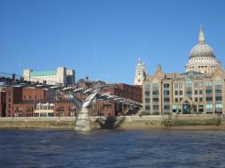 Millenium Bridge,UK обои для рабочего стола 1024x768 millenium, bridge, uk, города, лондон, великобритания