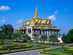chan, chaya, pavillion, royal, palace, phnom, penh, cambodia, города, дворцы, замки, крепости