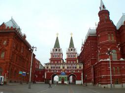 москва, воскресенские, врата, города, россия
