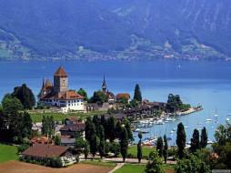 Spiez Castle, Switzerland  обои для рабочего стола 1600x1200 города, дворцы, замки, крепости, spiez castle, switzerland