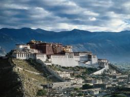 города, дворцы, замки, крепости, potala palace, lhasa, tibet
