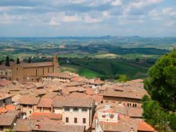 tuscany, italy, города, пейзажи
