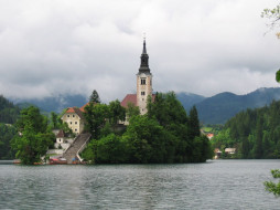 assumption, of, mary, pilgrimage, church, bled, slovenia, города, блед, словения