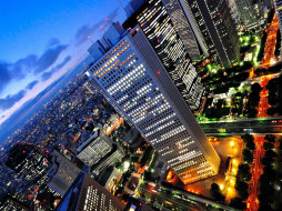 Shinjuku, Tokyo  обои для рабочего стола 1600x1200 города, огни, ночного, shinjuku, tokyo