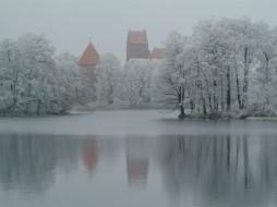trakai, lithuania, города, дворцы, замки, крепости