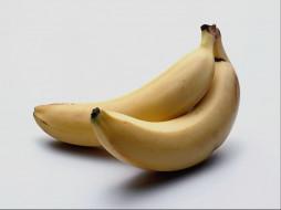 два, банана, еда, бананы