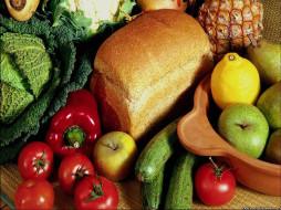 еда, фрукты, овощи, вместе