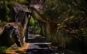 природа, дороги, горы, дорога, камни
