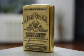 обои для рабочего стола 2896x1944 бренды, jim, beam, zippo, зажигалка, крупный, план