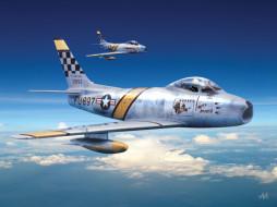 авиация, 3д, рисованые, graphic, f 86 sabre