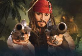 pirates, of, the, caribbean, on, stranger, tides, кино, фильмы, пистолеты, джонни, депп, johnny, depp, джек, воробей