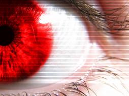 разное, глаза, глаз, зрачок, ресница, красный