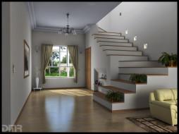 интерьер, холлы, лестницы, корридоры