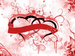 праздничные, день, св, валентина, сердечки, любовь