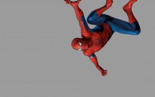 Человек-паук обои для рабочего стола 1920x1200 Человек, паук, рисованные, комиксы, повис, наверху, spider-man, Человек-паук, man, spider