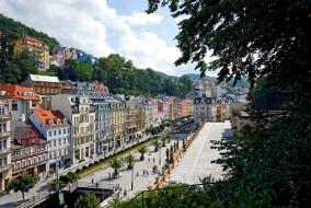 карловы, вары, Чехия, города, улицы, площади, набережные, площадь, дома, разноцветный