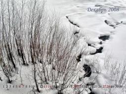 календарь, на, декабрь, календари, природа
