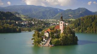 assumption, of, mary, pilgrimage, church, lake, bled, slovenia, города, блед, словения, остров, вода