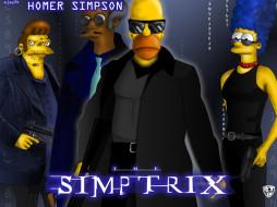 matrix, мультфильмы, the, simpsons
