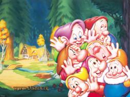 мультфильмы, snow, white, and, the, seven, dwarfs, disney, гномы
