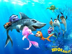 мультфильмы, shark, bait