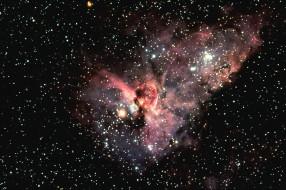 туманность, замочная, скважина, космос, галактики, туманности
