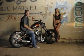 обои для рабочего стола 4256x2832 мотоциклы, мото, девушкой, classic, bobber, 69, chopper, custom, harley-davidson