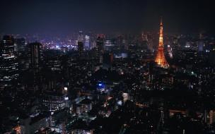 Tokyo at Night обои для рабочего стола 1920x1200 tokyo, at, night, города, токио, Япония