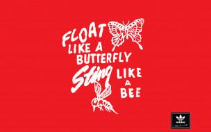 Adidas обои для рабочего стола 1440x900 adidas, бренды, красный, фон, надпись, буквы, пчела, бабочка