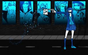 five, аниме, пистолет, девушка