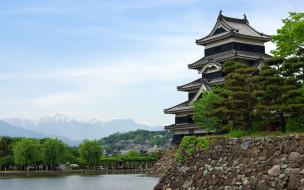 города, замки, Японии