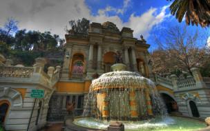 santiago, chile, park, города, фонтаны