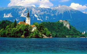 lake, bled, ljubljana, slovenia, города, блед, словения