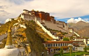 потала, тибет, города, дворцы, замки, крепости