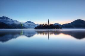 бледское, озеро, словения, города, блед, slovenia, lake, bled