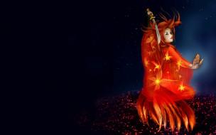 kitsune, by, lilok, фэнтези, девушки