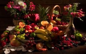 еда, натюрморт, изобилие, фруктов