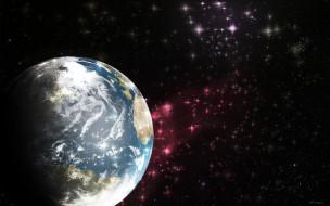 обои для рабочего стола 1680x1050 космос, земля