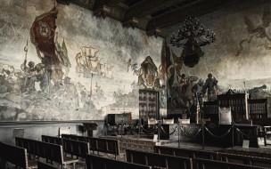 santa, barbara, courthouse, mural, room, интерьер, дворцы, музеи