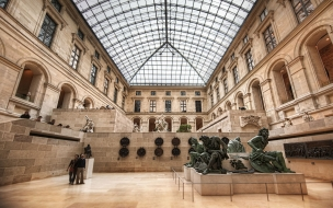 inside, the, louvre, museum, paris, интерьер, дворцы, музеи