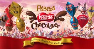 бренды, nestle, шоколад, праздник, фейерверк, конфеты