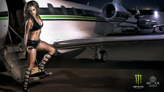 monster, energy, бренды, самолёт