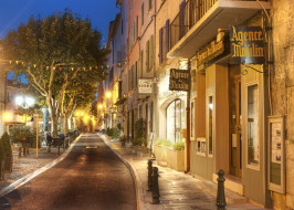 france, города, улицы, площади, набережные, вывески, деревья, огни, здания, дорога